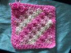 Pink Diagonal box Stitch by Christine D.  http://www.knit-a-square.com/