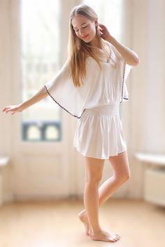 #tiare #hawaii #vibi #white #studs #ibiza #mode #kleding #dress #tunic #summer #sun #fashion