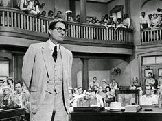 SEGREGATION: An essential theme in To Kill A Mockingbird is segregation. As shown in the picture, blacks and whites are being separated into sections in the courtroom. During the 1940s and 1950s, segregation occurred not only in courtrooms, but in many other public places.