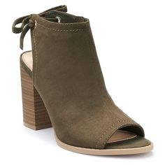 LC Lauren Conrad Sunflower Women's Peep Toe Ankle Boots, Size: medium (8.5), Green