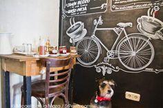 Like the idea of having blackboard art Cafe Design, Store Design, Design Art, Design Ideas, Bicycle Store, Bicycle Art, Blackboard Art, Bauhaus Art, Coffee Shop