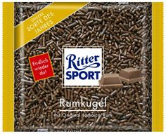 RITTER SPORT Fake Schokolade Sorte Rumkugel
