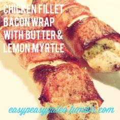 easypeasypaleo — Bacon chicken wraps with lemon myrtle YOU WILL. Chicken Wraps, Chicken Bacon, Bacon Wrapped, Myrtle, Easy Peasy, Paleo, Pork, Lemon, Kale Stir Fry