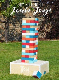 64 Ideas For Backyard Party Diy Decor Giant Jenga Outdoor Jenga, Yard Jenga, Jenga Diy, Outdoor Yard Games, Diy Yard Games, Jenga Game, Giant Jenga, Diy Games, Backyard Games