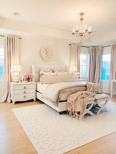 Master Bedroom Decor: a Cozy bedroom. Romantic master bedroom with white tufted bed, linen duvet, soft curtains master bedroom makeover, white tufted . Room Ideas Bedroom, Cozy Bedroom, Home Decor Bedroom, Modern Bedroom, Bedroom Romantic, Contemporary Bedroom, Bed Room, Cozy Master Bedroom Ideas, Bedroom Kids