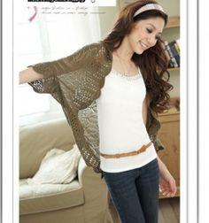 New Arrival Women Fashion Crochet Kimono Hollow Knit Tops Knitwear Coat Outwear Cardigan Retro Fashion, New Fashion, Autumn Fashion, Womens Fashion, Fashion Belts, Capes For Women, Cardigans For Women, Clothes For Women, Loose Sweater