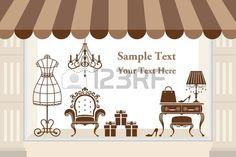 Window display Illustration vector Stock Vector