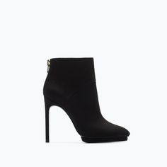 Image 1 of HIGH HEEL SUEDE PLATFORM ANKLE BOOT from Zara