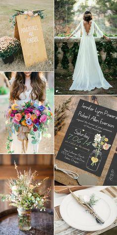 country rustic fall boho wedding ideas