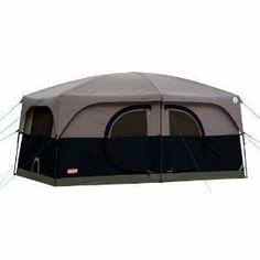 Amazon.com Coleman H&ton 9-Person Family Cabin Tent Sports u0026 Outdoors  sc 1 st  Pinterest & Amazon.com: Coleman Stockton 8 Person Tent w/ WeatherTex System ...