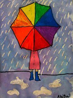 Color wheel umbrella art lesson: mr o& art room grade color wh Kunstjournal Inspiration, Art Journal Inspiration, Grade 1 Art, Kindergarten Art Projects, Umbrella Art, Spring Art, Art Classroom, Art Plastique, Art Activities