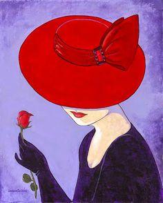 Tutt'Art@ | Pittura * Scultura * Poesia * Musica |: Lorraine Dell Woo ~ Flirty Hat