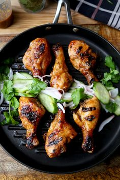 Hoisin Chicken with Pickled Cucumber Salad