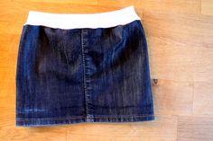 Jeansrock für Mädchen aus einer alten Jeans selber nähen, eine kostenlose Anleitung http://mamitilli.blogspot.de/2014/05/aus-mamajeans-wird-tochterrock.html