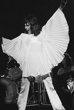 c1f4929132 Singer-songwriter Freddie Mercury (1946 - 1991) performing with British rock  group Queen