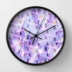 Flowing Flowers Wall Clock by Judy Palkimas