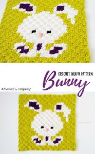 Zoodiacs Bunny Rabbit C2C Crochet Graph by One Dog Woof