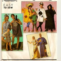 Costumes Pattern for Boys and Girls