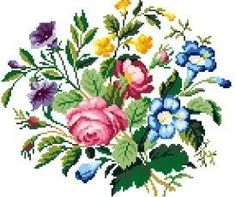 French bouquet  Cross stitch pattern. Instant by rolanddesigns, $4.00