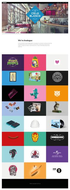 Scrolling Website homepage design ideas | http://www.madebyanalogue.co.uk/work.php