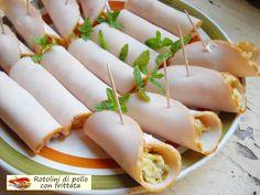 Rotolini+di+pollo+con+frittata.+Fresco+sapore.