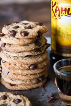 Boozy Chocolate Chip Cookies from Whats Gaby Cooking