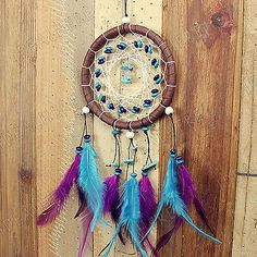 Native-American-Indian-Dream-Catcher-Feather-Leather-Car-Wall-Hanging-Decor-Gift