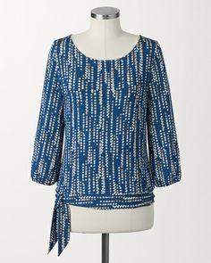 Travel knit rainfall top | Coldwater Creek