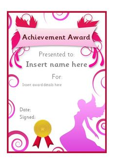 Editable fairy themed certificate. #teachingresources