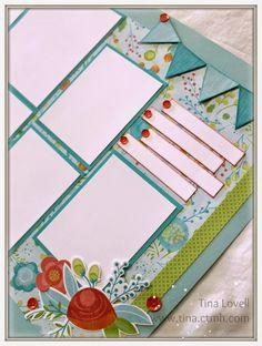Scrapbooking Kits: Blossom 6 Page Scrapbook Kit - $20