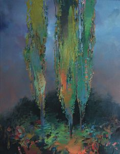 "RANDALL DAVID TIPTON ""Poplars in the Gloaming"""