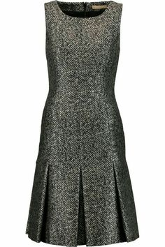 Michael Kors Metallic Herringbone Pleated Dress In Black Chic Outfits, Dress Outfits, Fashion Outfits, Womens Fashion, African Fashion Dresses, African Dress, Jacquard Dress, Mode Inspiration, Classy Dress