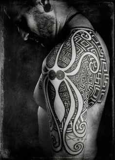 Really cool Octopus Tribal Tattoo