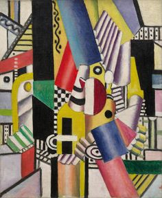 Fernand Léger, The Stove, April 1918. Oil on canvas, 24 x 19 3/4 inches (61 x 50.1 cm)