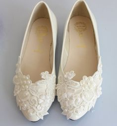 Lace Bridal Ballet Flat by Cocoangelly on Etsy, $28.00