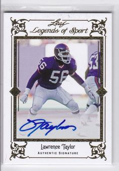 1fcb88616 LAWRENCE TAYLOR 2012 Leaf Legends of Sport Autograph BA-LT1   d 4
