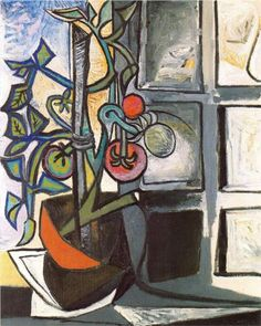 """Tomato Plant"" Pablo Picasso, 1944. Last sold at Christie's in 2006 for 13,456,000 dollars."