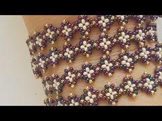 Star Glasses Lanyard and Bracelet - Armband Ideen Seed Bead Tutorials, Seed Bead Patterns, Beading Tutorials, Beading Patterns, Beaded Bracelets Tutorial, Beaded Bracelet Patterns, Handmade Bracelets, Beaded Jewelry Designs, Bead Jewellery