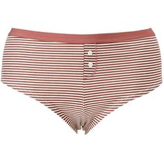 Charlotte Russe Striped Boyshort Hipster Panties ($4.99) ❤ liked on Polyvore featuring plus size women's fashion, plus size clothing, plus size intimates, plus size panties, dusty rose, boy short panty, boyshort panties, boy shorts panty and cotton panty