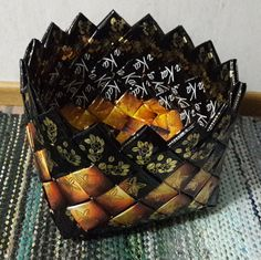 Diy And Crafts, Paper Crafts, Modular Origami, Craft Ideas, Bags, Diaries, Crafts, Purses, Tissue Paper Crafts