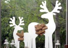 Renos en madera para decorar - Guía de MANUALIDADES