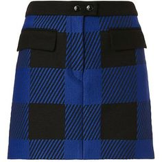 Rag & Bone Women's Cybil Plaid Skirt ($350) ❤ liked on Polyvore featuring skirts, blue tartan skirt, tartan plaid skirt, blue skirt, zipper skirt and tartan skirt