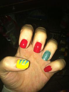 Little mermaid Disney nails