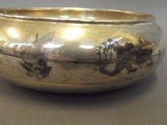 An Iraqi silver presentation bowl with Niello decoration. OLD IRAQI NIELLO SILVER الفضة العراقية المطعمة بالمينا السوداء شغل اهل الصبة