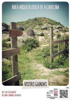 """Visitas guiadas al área arqueológica de """"A Cabeciña"""", (Mougás, Oia, Pontevedra), hasta el 31 de agosto de 2013."""