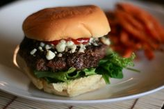 sometimes all you want to do is sink your teeth into a nice juicy burger...like this blue cheese and balsamic burger!