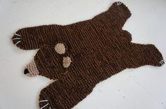 PDF KNITTING PATTERN Bear rug by WolverineKnits on Etsy