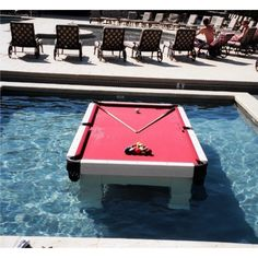 Cool Stuff Waterproof Pool Table ❤ liked on Polyvore featuring backgrounds, pictures and photos