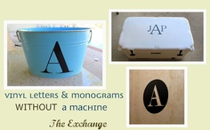 Create Vinyl Letters & Monograms WITHOUT a Machine!
