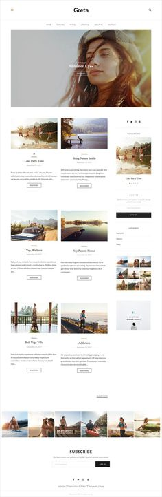 Greta is clean and modern design 5in1 responsive #WordPress theme for creative #blog and #bloggers website to live preview & download click on Visit